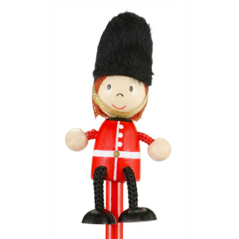 Royal Guard Hand Painted Character Pencil & Topper Set Party Bag Gift