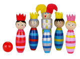 Childrens Wooden Skittles Ten Pin Game Toy Skittle by Fiesta Crafts Age 3+