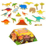 Childrens Magnetic Dinosaur Monster Toy Set Kit - 20 Magnets - by Fiesta Crafts