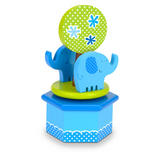 Boys Blue Elephtant Hand Made Rotating Music Box by Fiesta Crafts - Age 3+