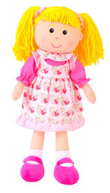 Childrens Goldilocks Goldie Rag Doll Dolly Soft Toy 36cm Tall - by Fiesta Crafts