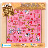 Childrens Pink Princess Muddle Puzzle 22 Pieces - Age 6+ by Fiesta Crafts