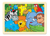 Childrens 24 Piece Jungle Animal Wooden Puzzle - Age 3+ by Fiesta Crafts