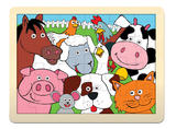 Childrens 24 Piece Farm Animal Wooden Puzzle - Age 3+ by Fiesta Crafts