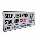 Crystal Palace Fc Metal Street Rd Sign Selhurst Park