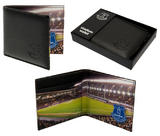 Everton Embossed Leather Wallet With Stadium Detail Inside & Gift Box 801