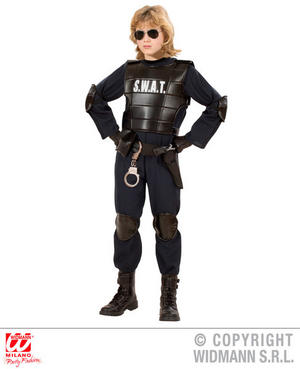 Childrens Swat Officer Boy Special Forces Fancy Dress Costume Outfit 4-5 Yrs