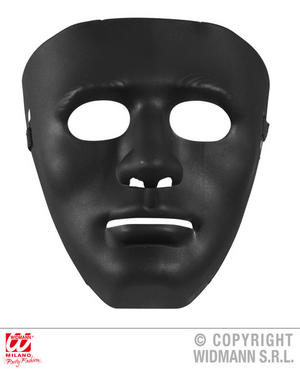 Anonymous Mask Black Fancy Dress Costume Robot Halloween Accessory Adult