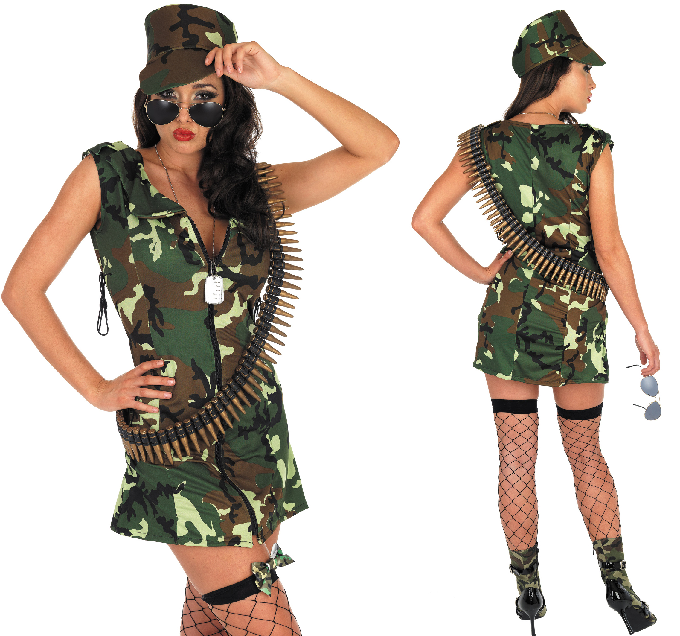 ladies sexy army girl fancy dress costume outfit camo rambo soldier hen do l ebay. Black Bedroom Furniture Sets. Home Design Ideas