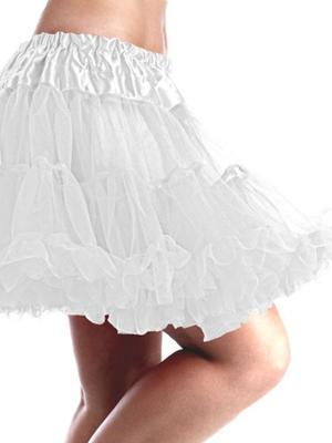 Ladies Deluxe White Tutu Fancy Dress Costume Fairy Ballerina Outfit