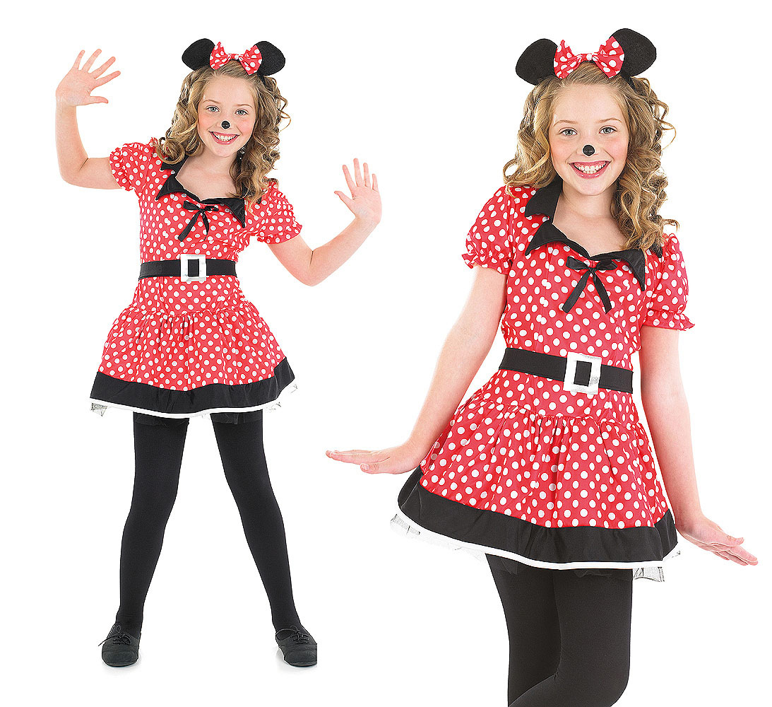 Childrens-Minnie-Mouse-Fancy-Dress-Costume-Disney-Kids-Girls-Outfit-4-12-Yrs thumbnail 8