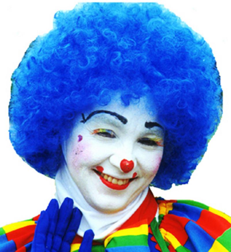 Neon Blue Afro Wig 70'S Retro Disco Diva Clown Halloween Festival Fancy Dress