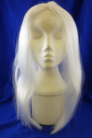"18"" Long White Wig Wizard Princess Unisex Halloween Fancy Dress"