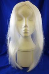 "18"" Long White Wig Wizard Princess Unisex Halloween Fancy Dress"
