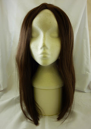 "18"" Long Brown Wig Wizard Princess Pop Star Unisex Halloween Fancy Dress"