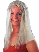 "18"" Long Blonde Wig Cher Princess Pop Star Unisex Halloween Fancy Dress"
