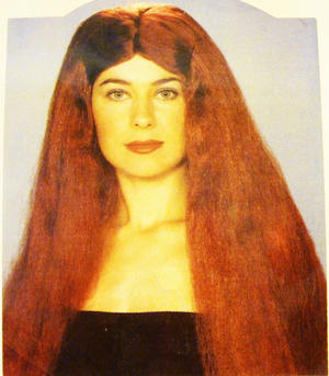 "18"" Long Red Hair Wig Cher Princess Pop Star Unisex Halloween Fancy Dress"
