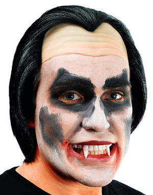 Vampire Dracula Black Wig Halloween Fancy Dress Mens