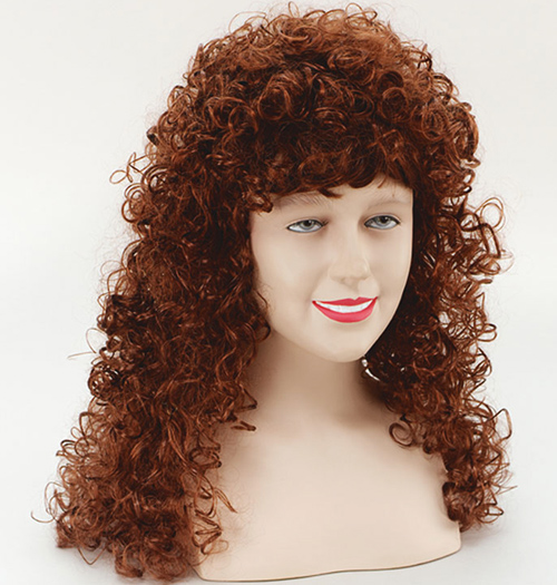 Long ginger curly perm wig fancy dress ebay sentinel long ginger curly perm wig fancy dress urmus Image collections