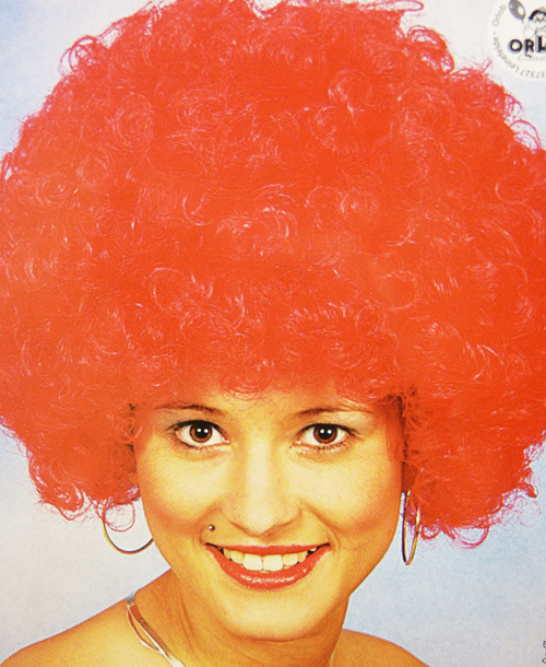 Ladies Red Afro Wig Circus Disco Diva Clown Premium Quality Fancy Dress