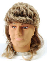 2 Tone Blonde Brown Mullet Wig George Michael Wham Hill Billy Fancy Dress