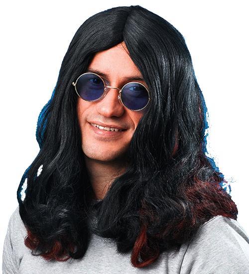 22fb0c0947 Long Black Wig Ozzy Osbourne Fancy Dress 5051090064811