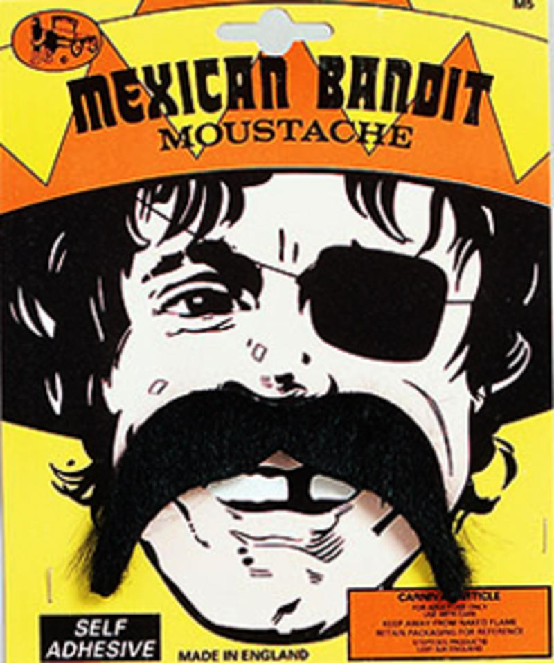 Mexican Moustache Three Amigos Bandit Cowboy Wild West Fancy Dress