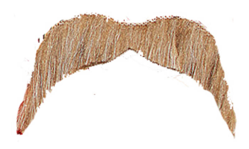 Blonde Moustache Wild West Cowboy Ymca 70S Hippy Accessory Fancy Dress