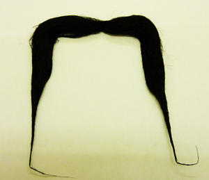 Black Moustache Chinaman Oriental Japanese Wizard Fancy Dress