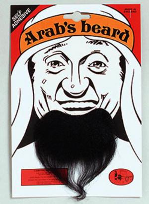 Black Goatee Beard Arab Arabian Sheik Fancy Dress