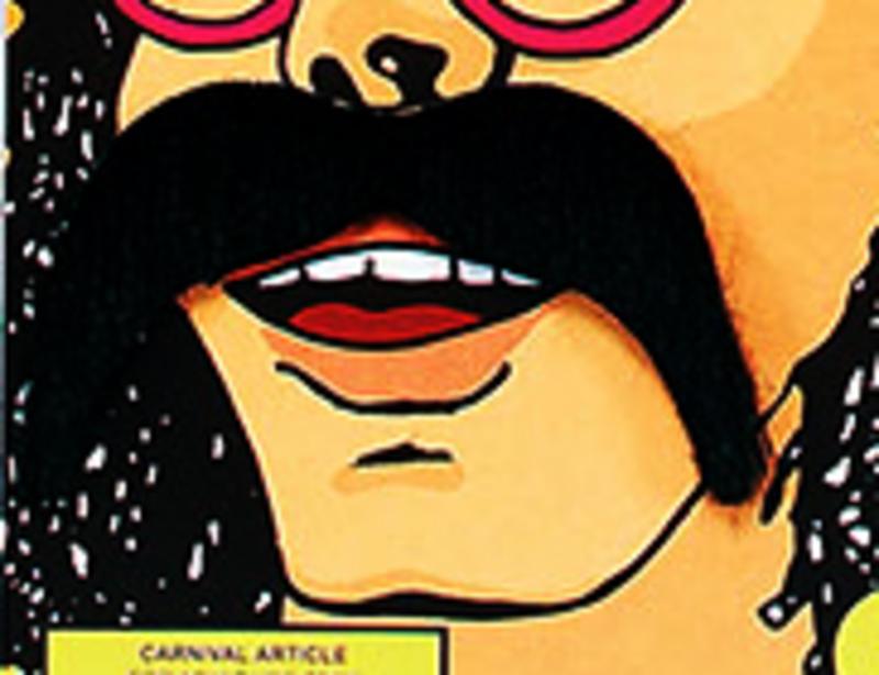 Thick Black Moustache 1970S Hippy Western Cowboy Ymca Fancy Dress