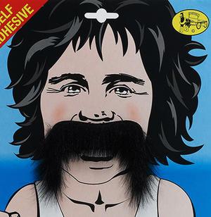 Black Moustache 118 Runner Retro 1970S Disco Fancy Dress