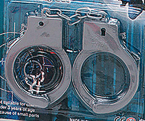 Silver Plastic Handcuffs Sexy Police Stag Hen Night Party Novelty Fancy Dress