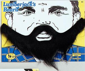 Black Beard & Moustache Set Boat Captain Sailor Pirate Lumberjack Fancy Dress