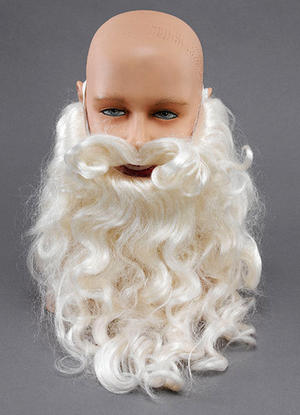 "10"" White Beard Father Christamas Santa Clause Fancy Dress"