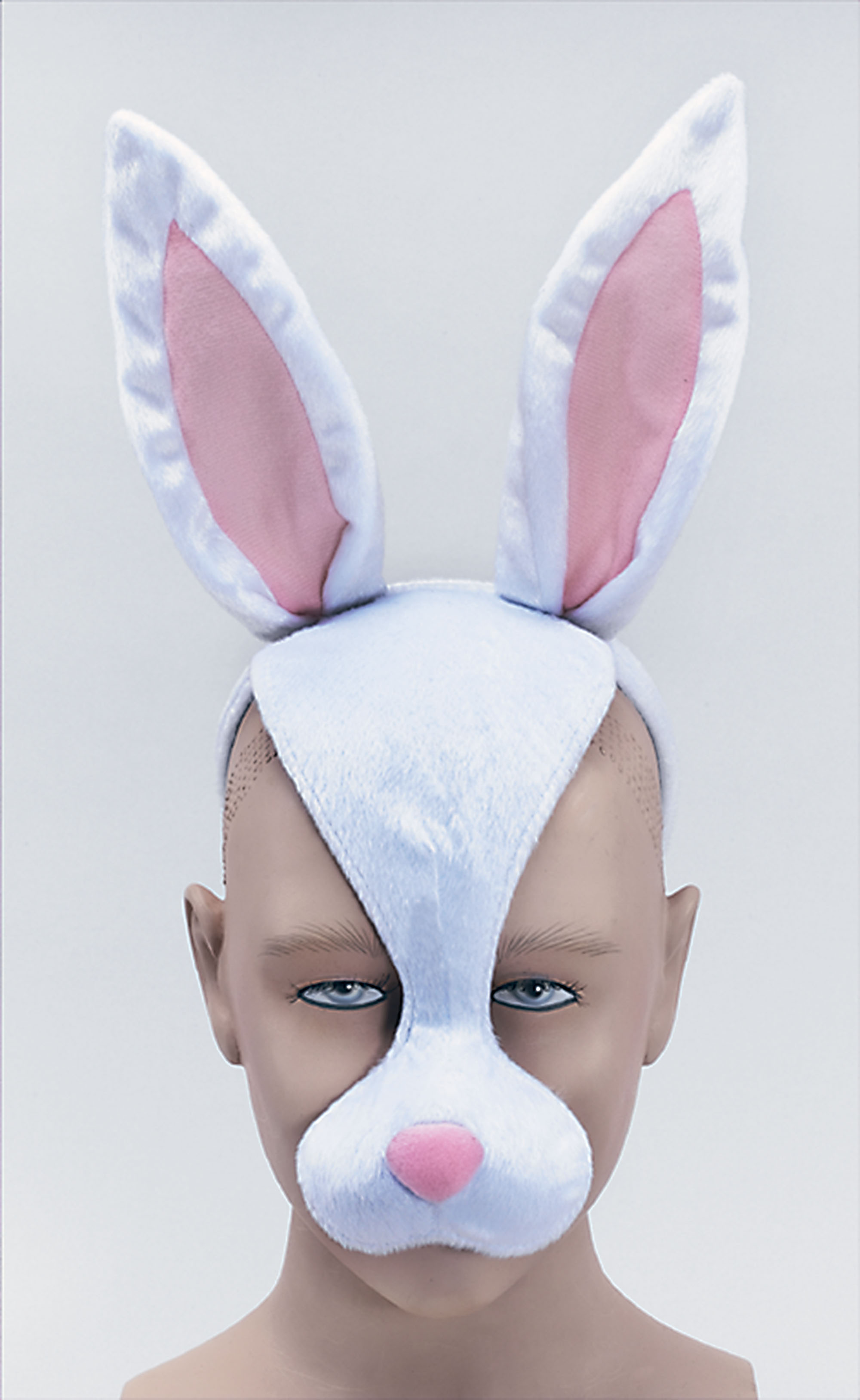 64 Free kids face masks templates for Halloween to print |Rabbit Face Mask