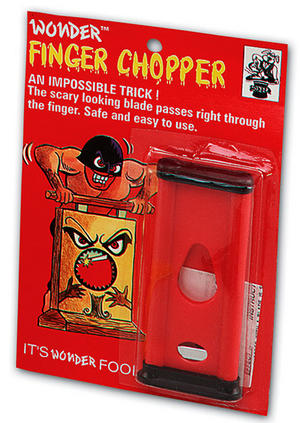 Finger Chopper Magic Trick Magician Illusion Joke Novelty Toy Gift