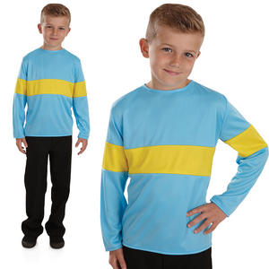 Childrens Blue & Yellow Top Horrid Henry Fancy Dress Costume Book Week 4-12 Yrs