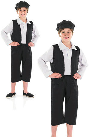 Childrens Victorian Boy Fancy Dress Costume Oliver Twist Kids Book Week 6-12 Yrs