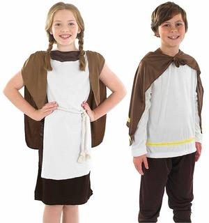 Childrens Viking Boy Girl Fancy Dress Costume Vikings Warrior Outfit 6-12 Yrs