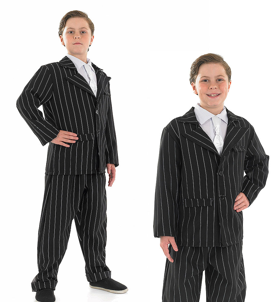 Childrens Bugsy Malone Gangster Fancy Dress Costume 1920s Kids Outfit 4-12 Yrs