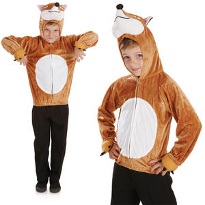 Childrens Fox Fancy Dress Costume Fantastic Mr Fox Book Week Outfit 4-12 Yrs