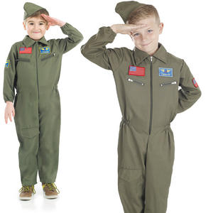 Childrens Air Cadet Boy Fancy Dress Costume War Time Pilot Kids Outfit 4-12 Yrs