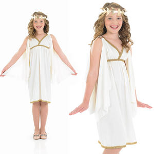Childrens Cleopatra Girl Fancy Dress Costume Ancient Egypt Toga Outfit 4-12 Yrs
