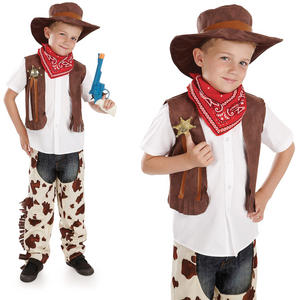Childrens Cowboy Fancy Dress Costume Wild West Woody Kids Outfit 4-12 Yrs