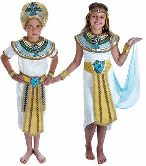 Childrens Egyptian Fancy Dress Costume Boy Girl Pharaoh Kids Outfit 6-12 Yrs