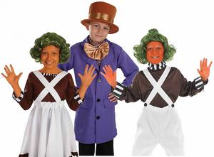 Childrens Charlie & The Chocolate Factory Fancy Dress Costume Book Week 4-12 Yrs