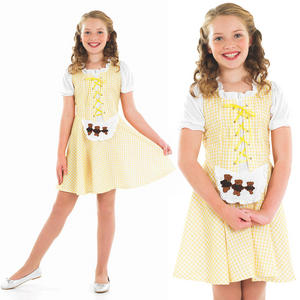 Childrens Goldilocks Fancy Dress Costume Fairy Tale Book Week Outfit 4-12 Yrs