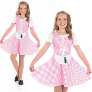 Childrens Little Miss Muffet Girl Fancy Dress Costume Nursery Rhyme 4-12 Yrs
