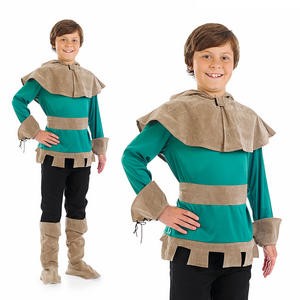 Childrens Deluxe Robin Hood Fancy Dress Costume Boys Book Week Outfit 4-12 Yrs